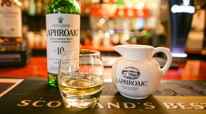 Laphroaig Whisky at the Bar