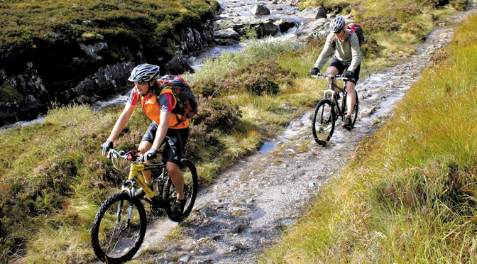 Mountain Biking in Glen Affric